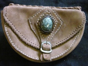Leather fanny pack from Guatemala